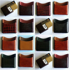 luxury leather cigarette packet holder hand made unique patterns various colours