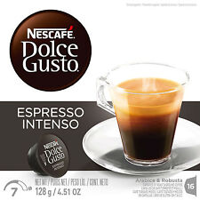 Dolce Gusto Espresso Intenso Coffee (6 Boxes,Total 96 Capsules ) 96 Servings