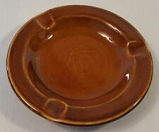 Vintage-Hall China-Brown Glaze-Ashtray-696-Made in USA-Mid-century