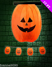 *12FT 3.65M HALLOWEEN GIANT ORANGE PUMPKIN PARTY FLAG BANNER BUNTING DECORATION*