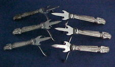 6 Sterling Silver Individual Corn Spears with Guards Manchester Duke of Windsor