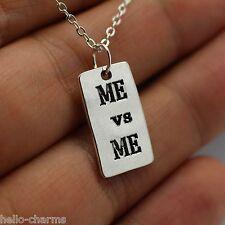 ME vs ME Charm Chain Necklace Gym crossfit workout pendant fitness bodybuilding