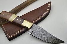 Jagdmesser Damastmesser Taschenmesser HANDARBEIT Damast Skinner Palisander #48