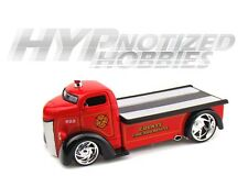 JADA 1:24 FORD 1947 COE FLAT BED TOW TRUCK FIRE RESCUE DIE-CAST RED 96284FIRE