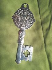 Saint Benedict Key  Religious Medal -Large 5' in tall
