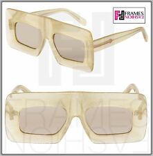 KAREN WALKER Enlightened Yellow Glitter Flash Mirrored Square Sunglasses 1401519
