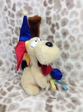 "Vintage Dakin 1983 Fun Farm Garfield Jester Odie Puppy Dog Plush 8"" Stuffed Toy"
