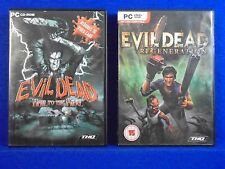 pc EVIL DEAD x2 Hail To The King + Regeneration MINT DISCS PC CD-ROM