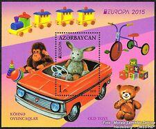 Azerbaiyán Azerbaijan Europa cept 2015, juguete/Toys, bloque ** post frescos