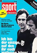 Magazin Sport Illustrierte 42/1973,Franz Beckenbauer,HSV,Damenfußball,FC Bayern