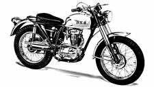 1966 BSA Victor 441 Special Motorcycle Factory Photo c220-DX8M6N