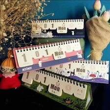 """Moomin"" 1pc Desk Calendar DIY Any Year Scheduler Planner To Do List Cute"