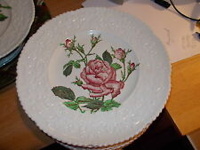 Vintage Royal Cauldon HAYWOOD Ironstone Embossed Red Rose Dinner Plate - #1