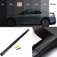 5%-50% Black Window Glass Tint Film VLT Roll Auto Car Office Commercial 3m-7m