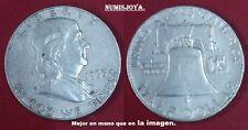 E. UNIDOS. Año 1963 D. 1/2 Dolar Franklin. Peso actual 12,50 gr.