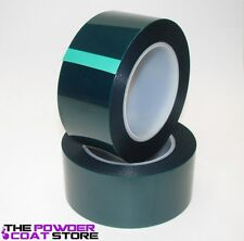 2 inch x 72 yds - High Temperature Polyester Green Masking Tape for Powder Coat