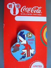 COCA COLA PIN BADGE - LONDON 2012 - DAY 4 UK MAP & UNION FLAG - MOC