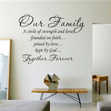 Wall Decal Sticker Quote Vinyl Art Our Family is a Circle of Strength and Love