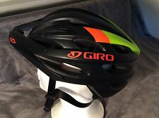 New Revel Giro Bike Helmet Black Orange Green 55-59cm 309g Some Storage Wear