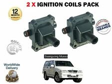 FOR DAEWOO SSANGYONG MUSSO 2.3i GLS 3.2 GX220 1996- NEW 2 X IGNITION COILS SET