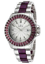 New Womens Invicta 18877 Angel Two Tone Purple Date Exotic Bracelet Watch
