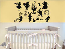 Wall Decal Vinyl Sticker Bedroom Alice In Wonderland Cartoon Nursery Baby bo2411