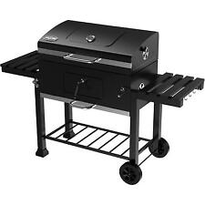 "Kingsford 32"" Charcoal Grill Smoker Picnic Outdoor Black Barbeque Side Shelfs"