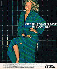 PUBLICITE ADVERTISING 084 1977 BOLERO HOMEWEAR   robe d'hôtesse         290814
