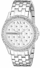 Armani Exchange Women's AX5215 Silver Quilted Dial Stainless Steel Watch