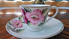"""COLLECTIBLE DEMITASSE MERIT CHINA """"MADE IN OCCUPIED JAPAN"""" TEA CUP AND SAUCER"""