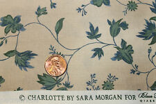 """""""CHARLOTTE"""" REPRODUCTION COTTON QUILT FABRIC BY THE YARD FOR BLUE HILL 7162-16"""