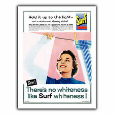 Surf Washing Powder METAL SIGN WALL PLAQUE Retro Print poster Kitchen 1957