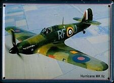 Hawker Hurricane MkII metal postcard/mini sign (hi)