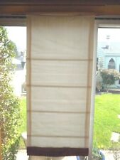 Laura Ashley Quality ROMAN BLIND ~ Cream with Terracotta Bottoms ~ 3 AVAILABLE