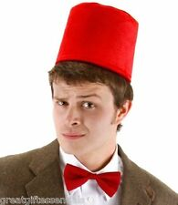 Dr Doctor Who Fez Bow Tie Set 11th Costume Matt Smith Red Hat BBC LICENSED USA