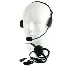 PTT MIC Military Tactical Headset for KENWOOD RETEVIS BAOFENG UV5R BF-888S