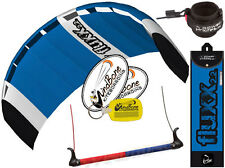HQ Fluxx 2.2 Trainer Kite Kiteboarding Foil Power Kitesurf + Plus Safety Leash