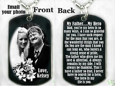 MY FATHER...MY HERO Dog tag Necklace or Key chain + FREE ENGRAVING