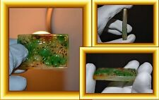 VERY RARE Chinese green Jade Amulet - plaque / Ming - Qing Dynasty / Carp - Fish