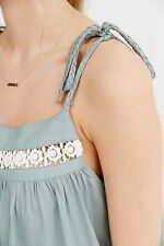 NEW Urban Outfitters Thistlepearl Tie Strap Cami Babydoll Pocket Top Med