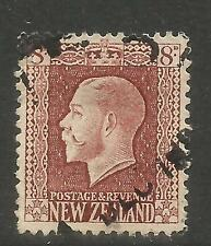 New Zealand 1915-22 King George V 8p red brown (157) used