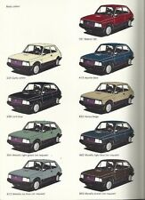 Fiat 127 Colours Couleurs Orginal Brochure Catalog 1981 Paint Options Chart