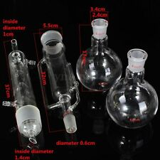 500ml Glass Soxhlet Extractor Condenser W/ Two Flat Bottom Flask 24/29 Lab Kit