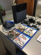 Sony PlayStation 4 500GB Black Console 4 Games Headset Charge Dock And More PS4