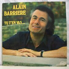 """33 tours Alain BARRIERE Disque Vinyle LP 12"""" TU T'EN VA ...- MFP 61.712 F Rèduit"""