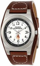 NEW Hush Puppies HP.3115M01.2506 Mens Brown Wide Cuff 3 Hand Minute Track Watch