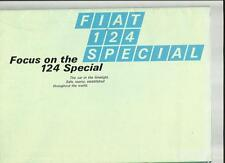 FIAT 124 SPECIAL SALES BROCHURE EARLY 70's