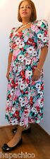 Country Romance Vintage Floral Print Drop Waist Full Skirt Dress 10 HapaChico