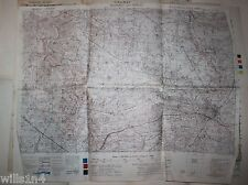WWII Army field used Map US 29th Division Villedieu-les-Poeles February 1944 21D