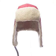 TOPMAN Men's Red Faux Fur Lined Waterproof Trapper Hat 56R06C One Size NEW $36